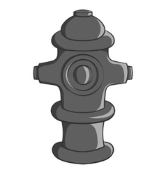 Fire hydrant icon black monochrome style vector