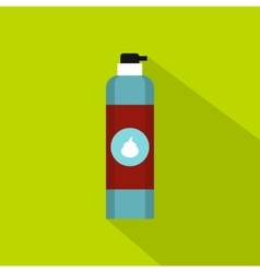 Shaving foam bottle icon flat style vector