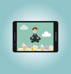 businessman or manager has a lot of emails but vector image