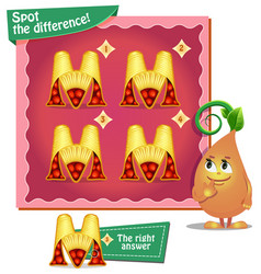 Spot the difference letters m vector