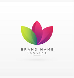 leaf logo concept design in colorful style vector image