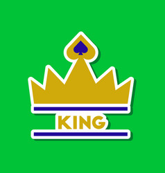 Paper sticker on stylish background crown royal vector
