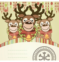 Christmas background card vector
