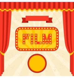 Movie and cinema retro background vector
