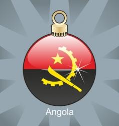 Angola flag on bulb vector image