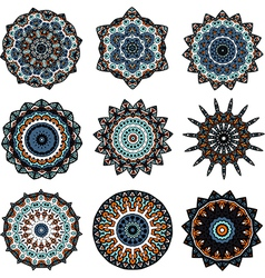 Set of mandalas in turkish style vector