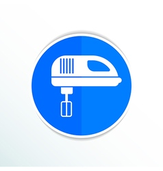 Icon mixer electric handmixer hat sign stove vector