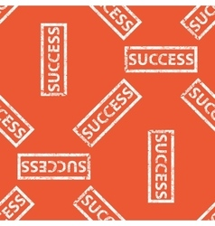 Orange success stamp pattern vector