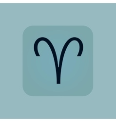 Pale blue aries icon vector