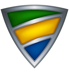 steel shield with flag gabon vector image