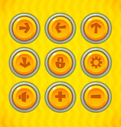 Game buttons with icons vector