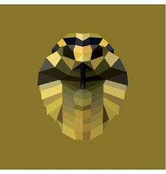 Cobra snake polygon design logos pet vector