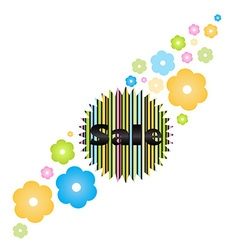 label word sale drawn from the colored lines on a vector image