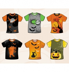Halloween t-shirts vector