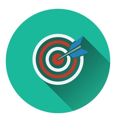 Icon of target with dart vector