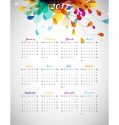 2017 calendar with abstract background with vector