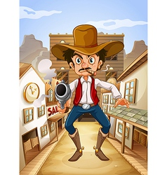 A Mexican man holding a gun vector image