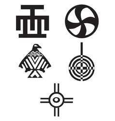 American Indian Symbols vector image