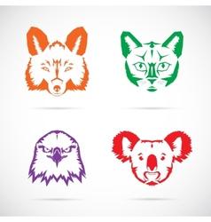 Animal faces symbol set vector