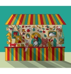 Art hand made fair toys seller vector