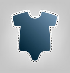 Baby cloth blue icon with vector