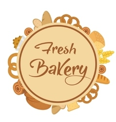 Bakery products frame flat style set of vector