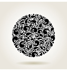 black curves circle vector image vector image