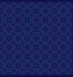 blue abstract geometry seamless pattern vector image vector image