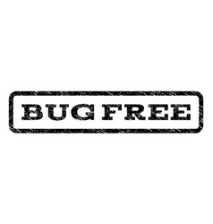 Bug free watermark stamp vector