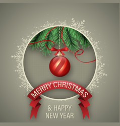 christmas and happy new year wish with gift boxes vector image vector image