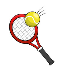 color racket and tennis ball icon vector image vector image