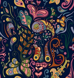 Colorful abstract seamless pattern bizarre shapes vector