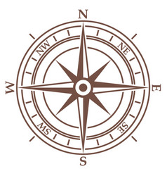 Compass in vintage style on white background vector