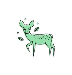 Deer logo isolated on white vector