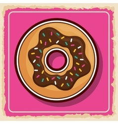 Donut icon sweet food product graphic vector