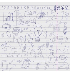 doodle elements of business infographic vector image