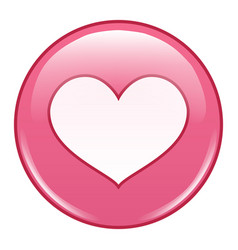 Emoji emoticon icon emoji in love emotion vector