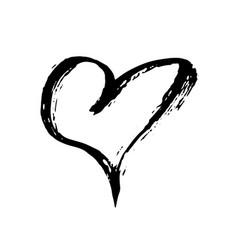 Grunge heart valentine day print vector