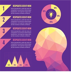 Infographic Concept with Human Head vector image