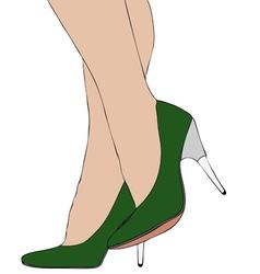 Legs with high heels 007 vector image vector image