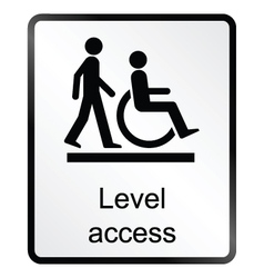Level Access Information Sign vector image vector image