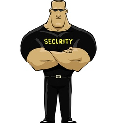 man security vector image vector image