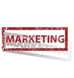 Marketing outlined stamp vector