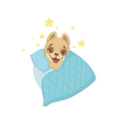 Puppy going to sleep vector