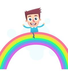 Riding on a rainbow vector