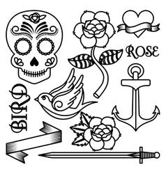 Roses tattoo design vector