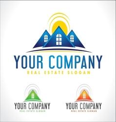 Rreal estate design house vector