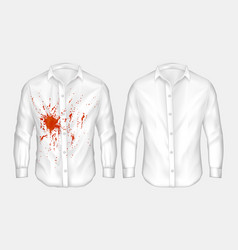 set of of white male shirt vector image