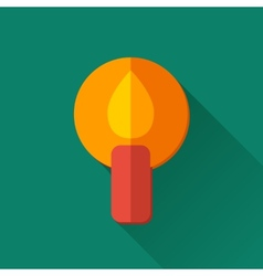 Simple candle icon in flat style vector