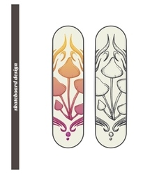 Skateboard Design Abstract Mushroom Five vector image vector image